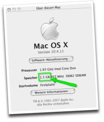 RAM Ausbaustufe MacMini