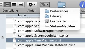 plist Dateien unter Preferences