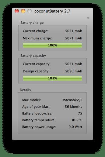 MacBook Akku Details kalibrieren