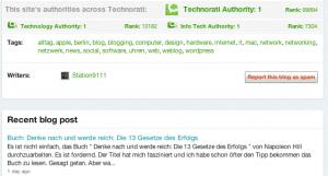 Technorati Blog Rating