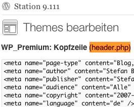 Wordpress Meta Tags im Header