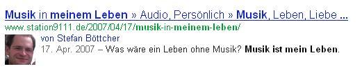 Datum Google Suchergebnis Beispiel 1
