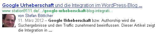 Datum Google Suchergebnis Beispiel