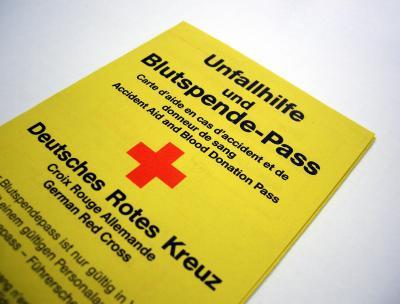 Blutspende-Pass Deutsches Rotes Kreuz