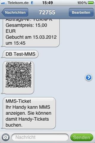 Handy-Ticket Test MMS