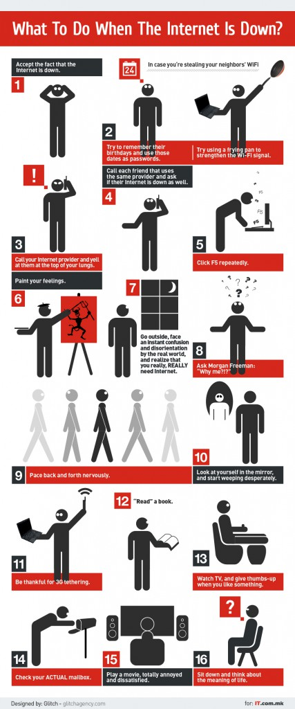 What To Do When The Internet is Down Infografik