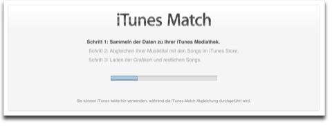 iTunes Match Schritt 1