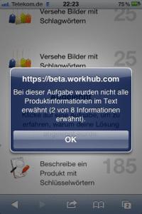 WorkHub - Aufgabe abgelehnt