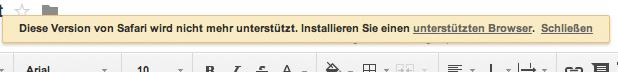 alter Safari-Browser
