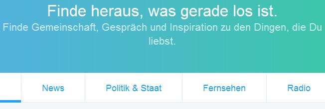 Twitter mit neuer Startseite