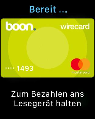 Apple Pay mit Apple Watch Series 3 - Boon. App