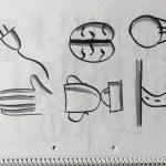 Sketchnote: Bikablo und Vokabeln