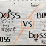 Sketchnote: Werbung von Pantene - boss vs bossy