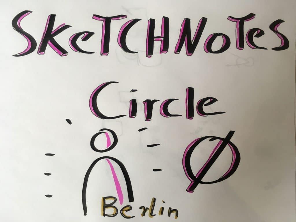 Sketchnote Circle 0 Magenta Berlin